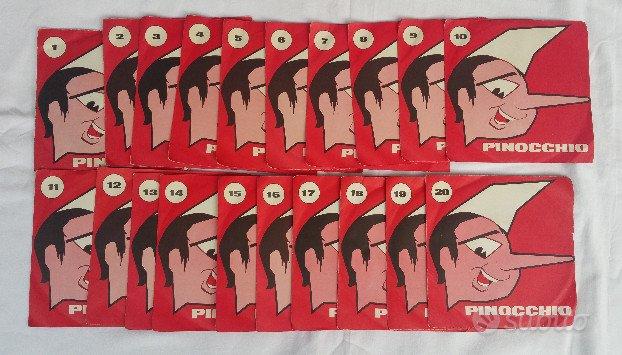 Collezione vintage 20 dischi Pinocchio