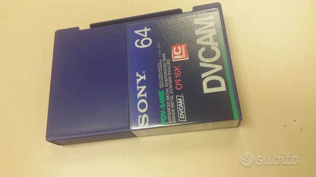 Videocassette sony pdv-64me dvcam