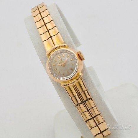 Omega lady anni 60 oro rosa 18kt manuale cal.481