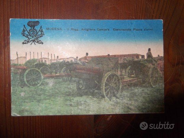 Cartolina militare Modena Piazza d'armi 1923