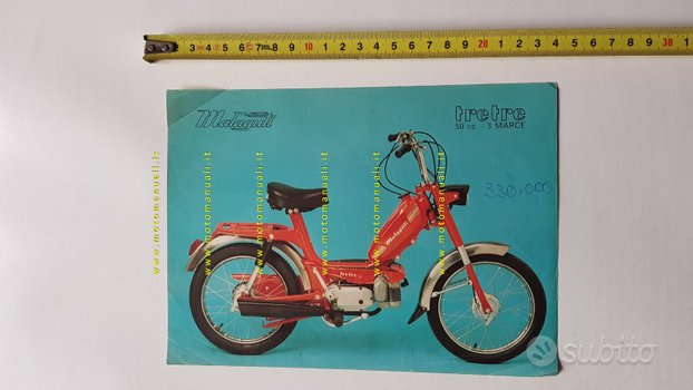 Malaguti 50 Tre-Tre anni 70 depliant Ciclomotore