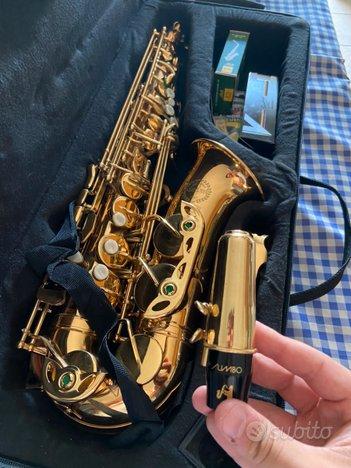 Sax Contralto Grassi 700 + Jumbo A45 + case