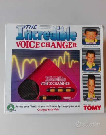 Tomy Incredible Voice Changer Nuovo