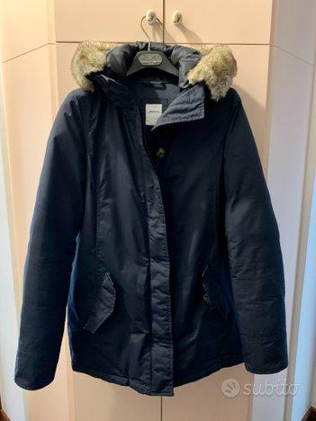 Parka donna giaccone invernale con pelliccia eco