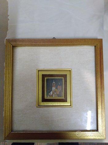 Quadretto foglia oro dipinto
