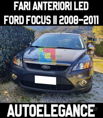 Ford focus mk2 2008-2011 fari anteriori neri led