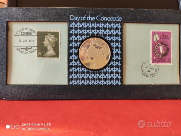 Medaglia busta e francobolli Day of The Concorde
