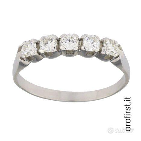 Anello veretta oro e diamanti 0,60ct
