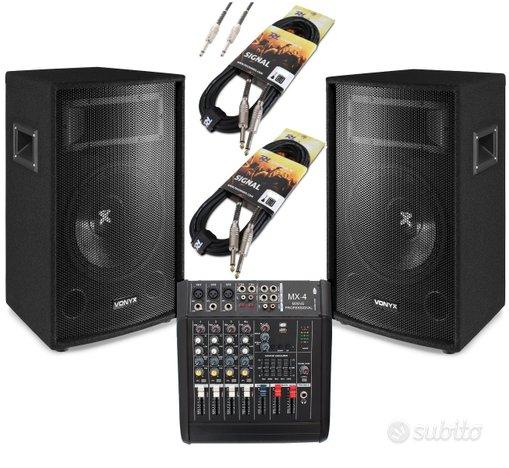 Impianto audio sistema attivo dj karaoke