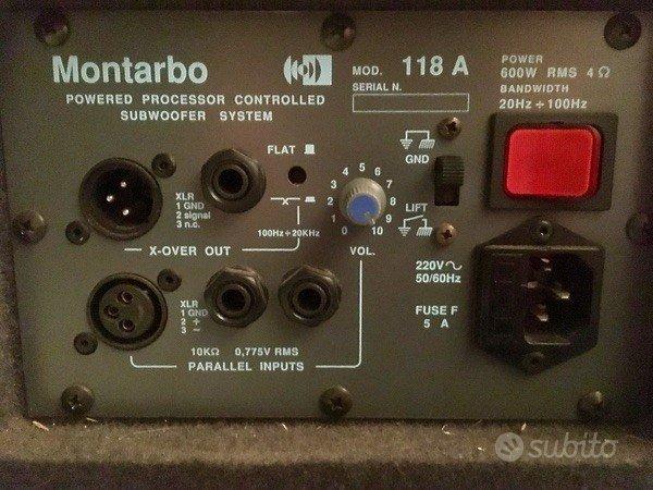 Montarbo 315A e sub 118SA