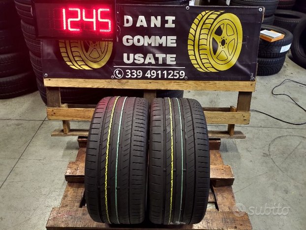 2 Gomme Usate 255 35 19 ESTIVE 65% CONTINENTAL