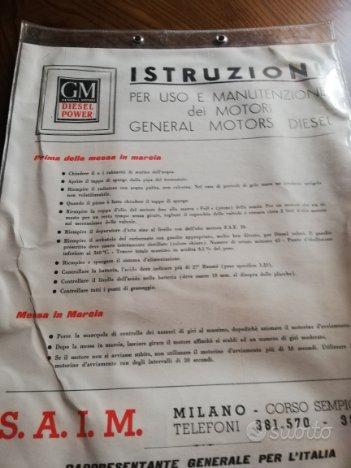 Ferrovie istruzioni motori GM diesel