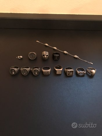 Anelli bracciale ciondolo tutti in argento 925