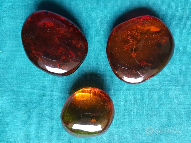 Lotto di 23 pietre d'ambra da collezione