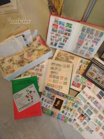 Vecchia raccolta di francobolli nuovi ed usati