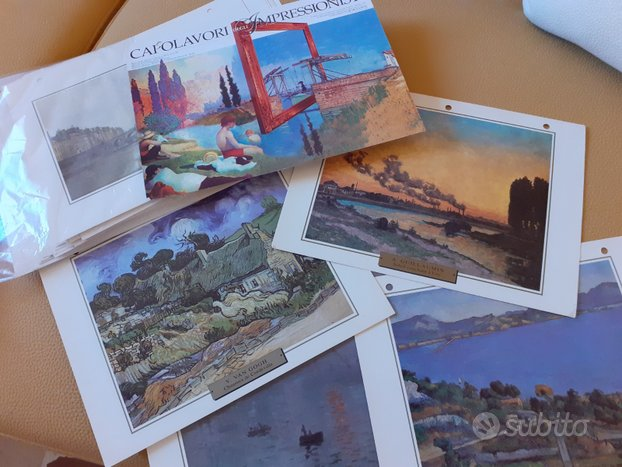 60 schede Capolavori degli impressionisti