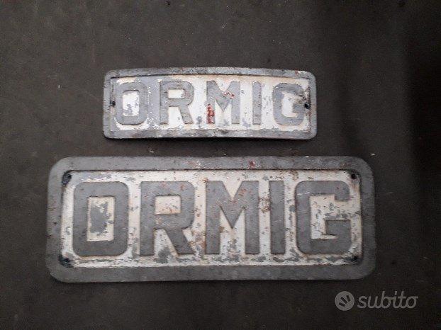 Targhe in alluminio ormig vintage