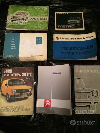 Libretti uso e manutenzione auto d'epoca