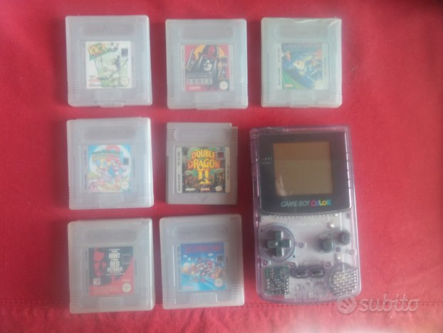Game Boy Color 8 giochi Pokemon gold oro