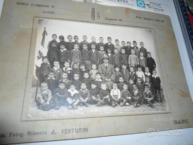 Fotografia di una classe elementare del 1927-28