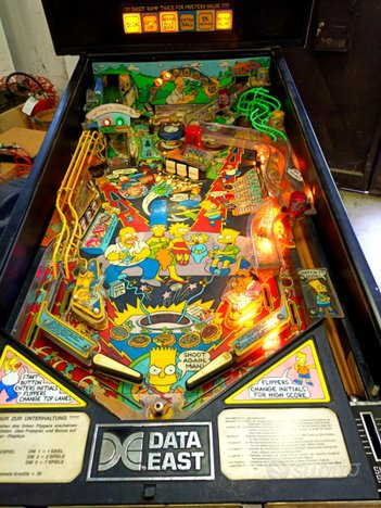 Flipper pinball simpsons