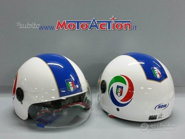 Casco HDM IT 550 FIGC italia jet moto scooter