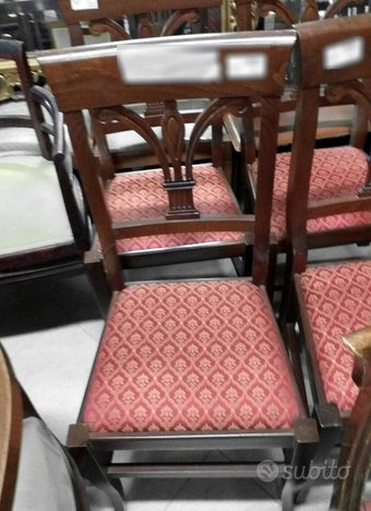 Sedia con seduta in damascato