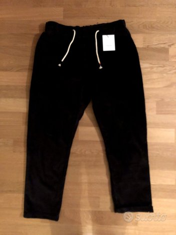 The Silted Company Pantalone Baggy Velluto Nero