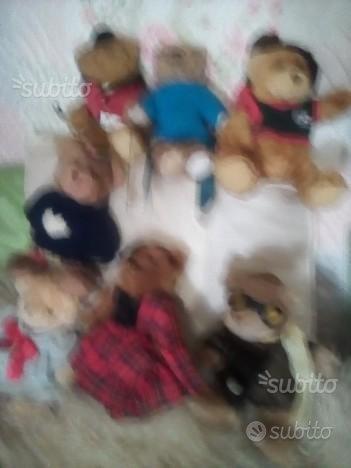 Collezione orsetti peluche vari mestieri