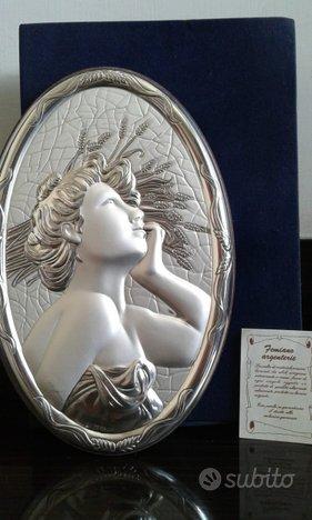 Bassorilievo Famiano estate argento 850 nuovo