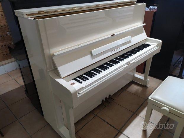 Pianoforte Yamaha U1 H bianco trasp. e acc inclusi