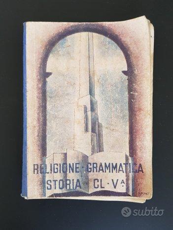 Libri scuola anni '40 (Epoca fascista)