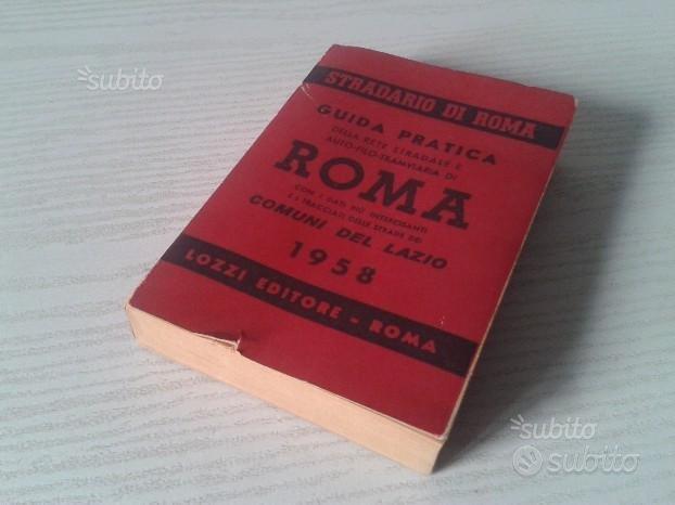 Stradario roma del 1958