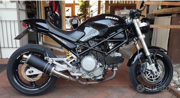 Short Titanium Black Basso Ducati Monster
