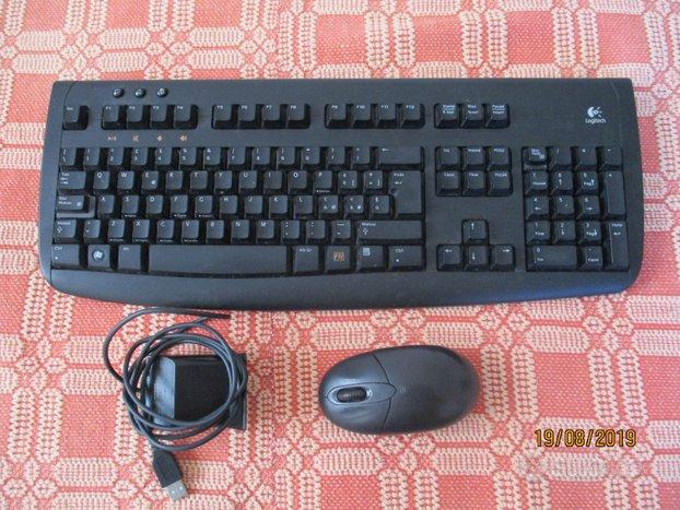 Tastiera logitech e stampante HP