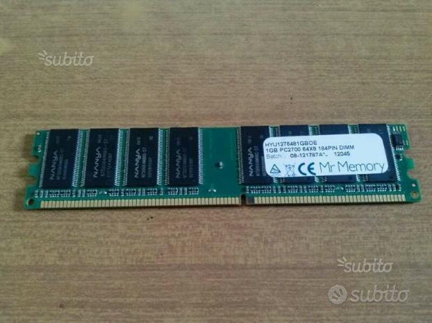 Memoria RAM Nanya DDR-1 PC2700 333MHz 1GB