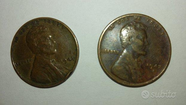 Lotto 4 monete Usa
