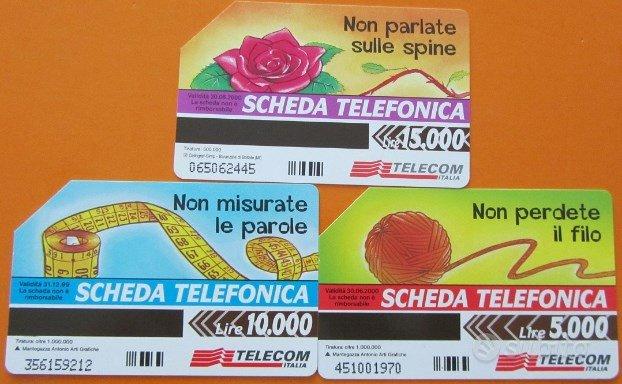 3 schede telefoniche: Con la scheda da 15.000