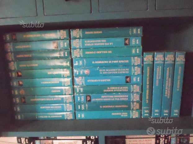 Vhs john wayne, 24 video cassette