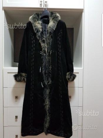 Cappotto donna nero pelle taglia s