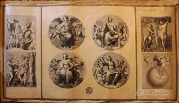 Antica incisione del 1800 Proja-Moneta