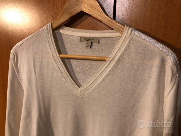 Maglione Lana Burberry bianco