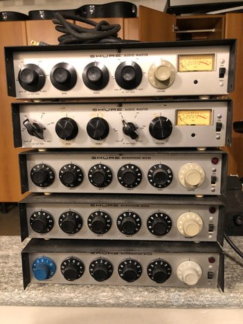 Vintage Shure series M Microphone mixers and maste