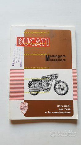 Ducati 125 TS-Sport,175 TS,200 Elite 1960 manuale