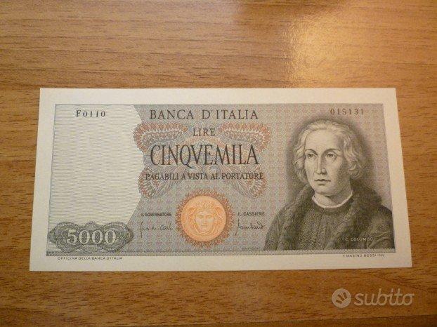 9289df7fa3 Banconota 5000 Lire colombo FDS 1 caravella - Collezionismo In ...