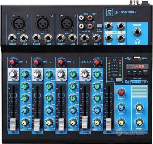 OQAN MIXER Q5 MK2 USB - MIXER 5 CANALI