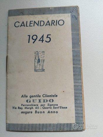 Calendario di parrucchiere 1945