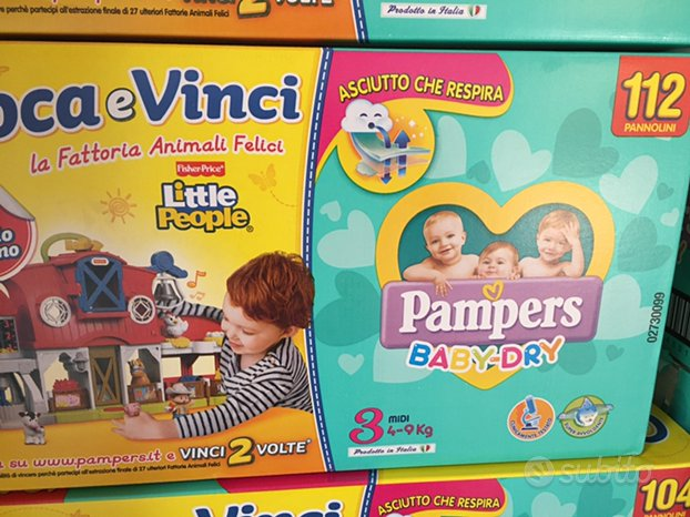 Pannolini pampers baby-dry tg 3-4-5