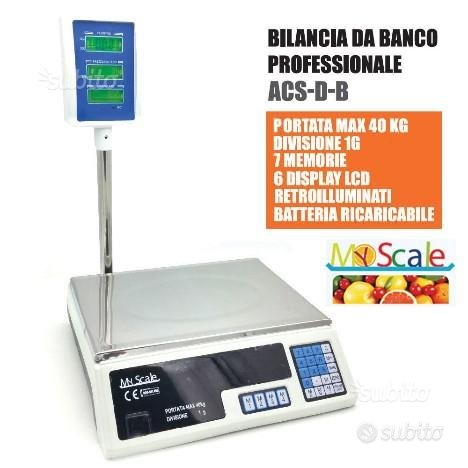 Bilancia 40 kg 1 grammo con braccio piatto acciaio