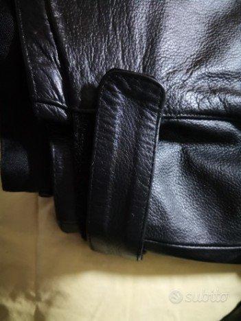 Giubbotto moto/scooter in pelle spessorata tg. xl